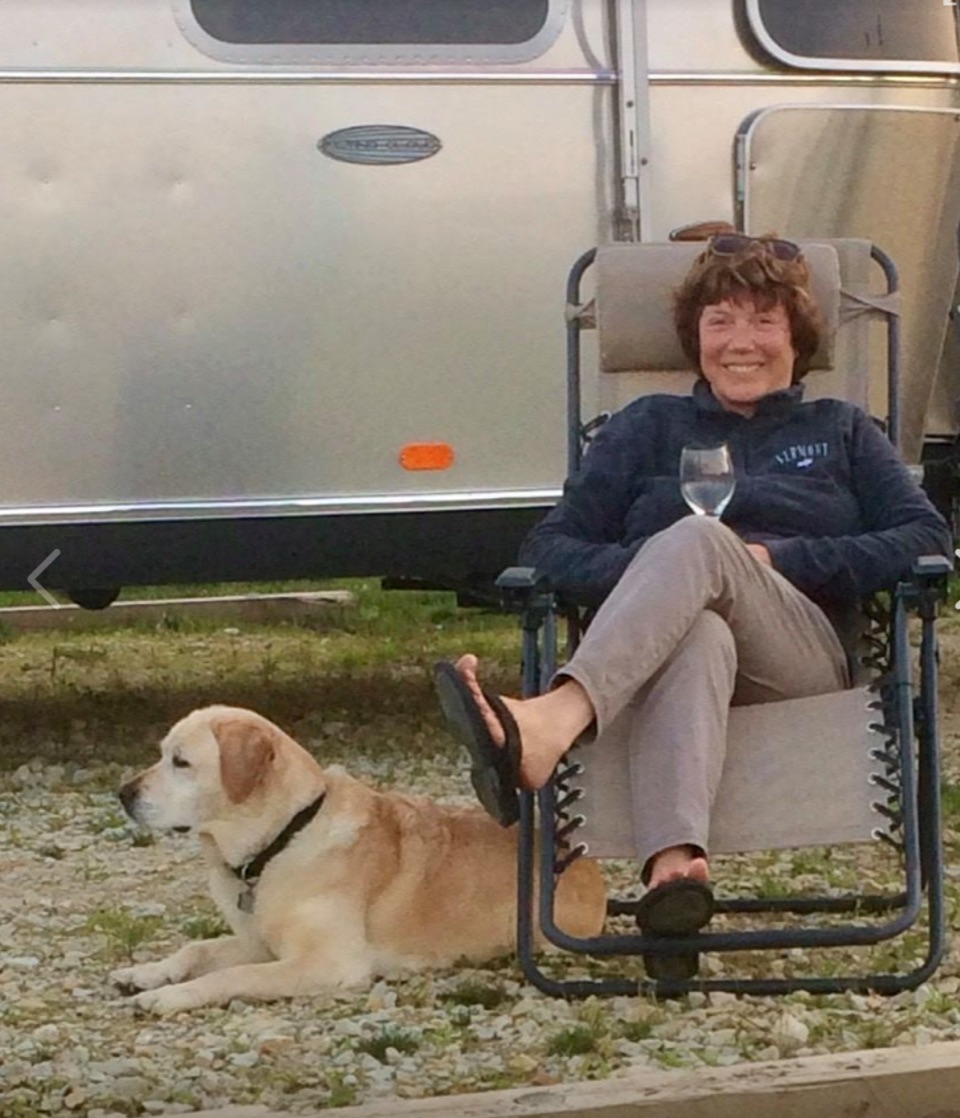 image of Terri Warren in front of Airstream